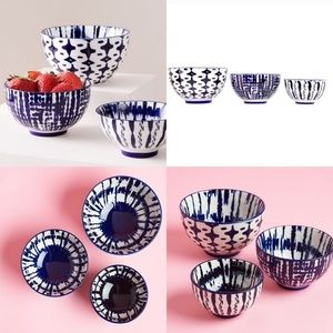 West Elm Indigo Tie Dye Nesting Bowls (set of 3)